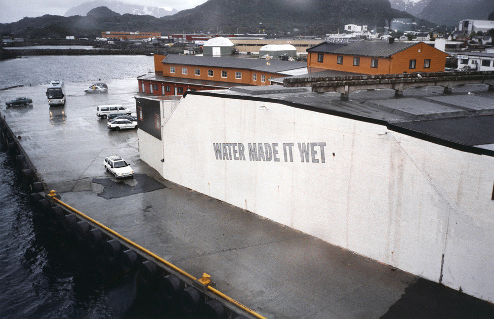 Lawrence Weiner, 'Water made it wet', 1998. Image credits: Artist's own.