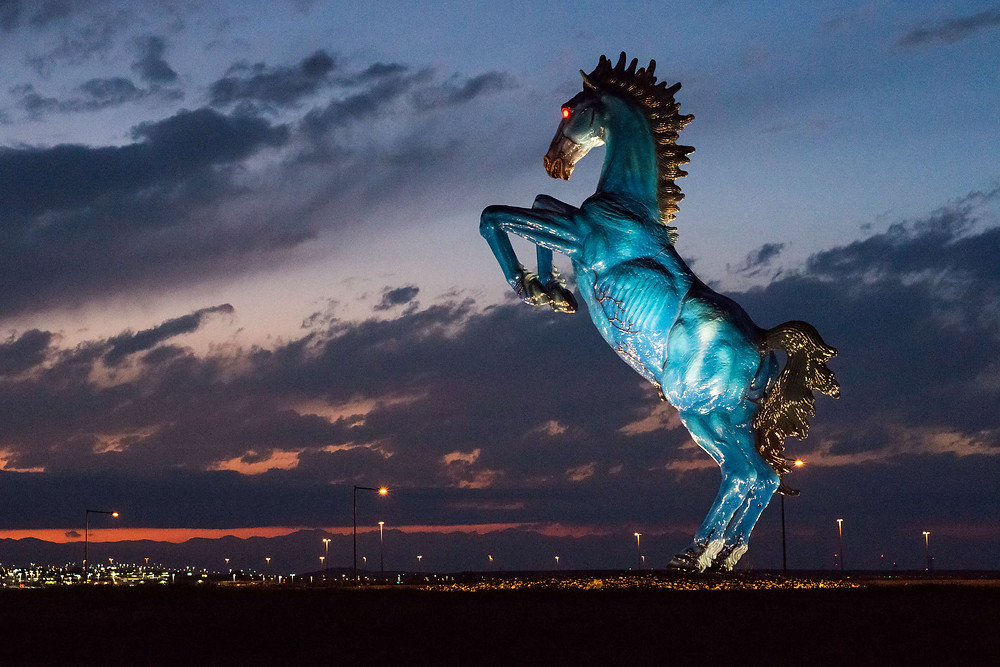 Luis Jimenez, 'Blue Mustang', Denver International Airport