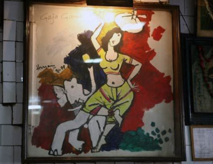 M. F. Husain's 'Gaja Gamini' at Azad Hind Dhaba, Image credits: India Today