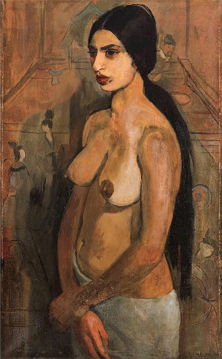 Amrita Sher-Gil, 'Self-Portrait as a Tahitian',1934