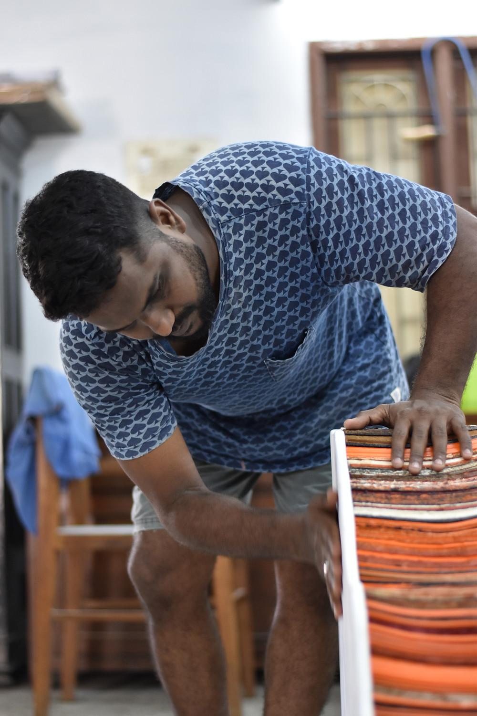 Kumaresan Selvaraj in his studio space, Image credits: Kumaresan Selvaraj
