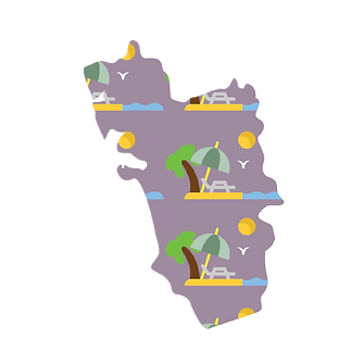 Illustrated map of goa