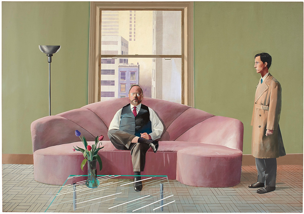 David Hockney, 'Henry Geldzahler and Christopher Scott', 1969