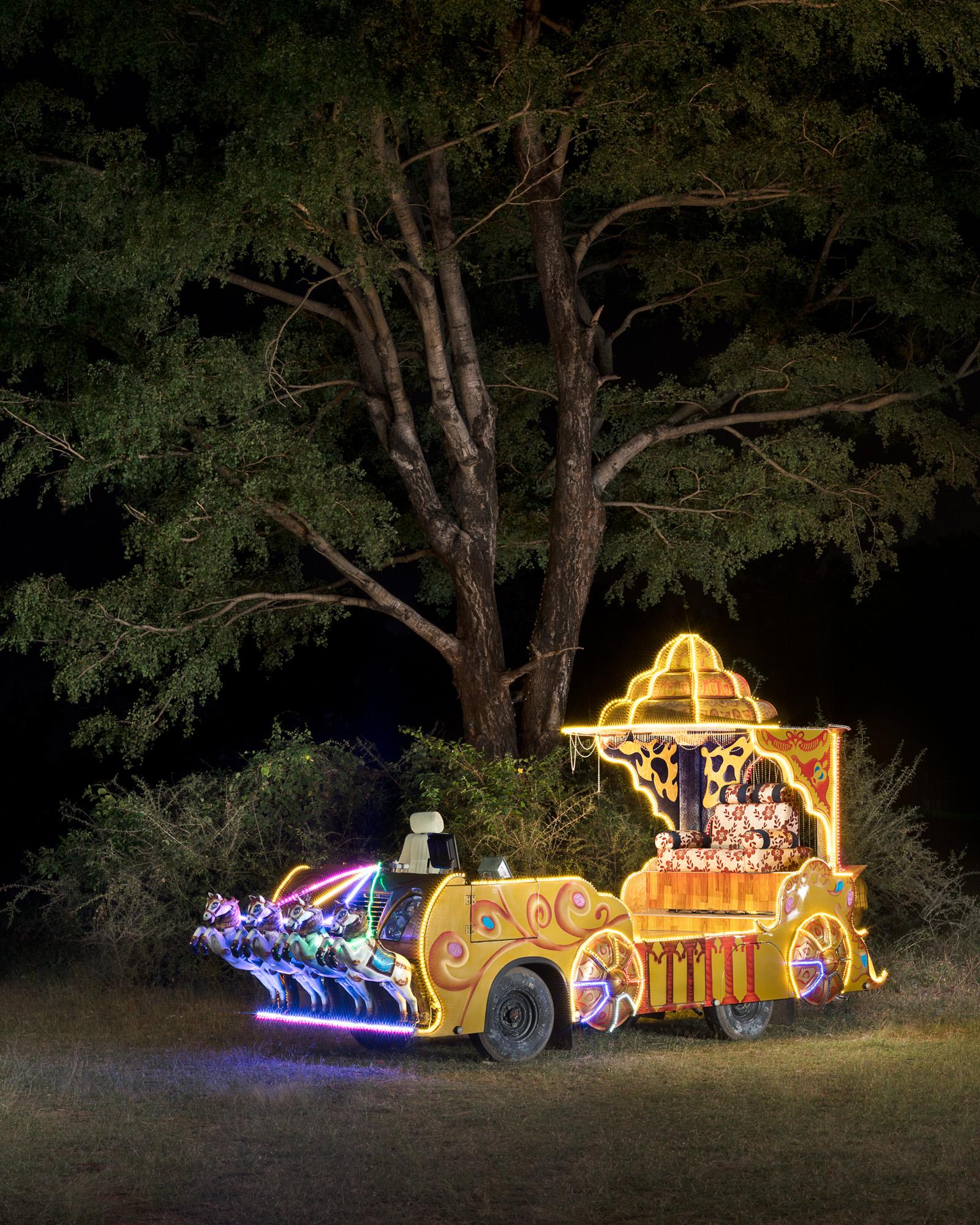 """'Pleasure Chariot' - Vetavalam. 15 August, 2018. 36"""" x 29"""" Archival inkjet print on Hahnehmühle pear"""