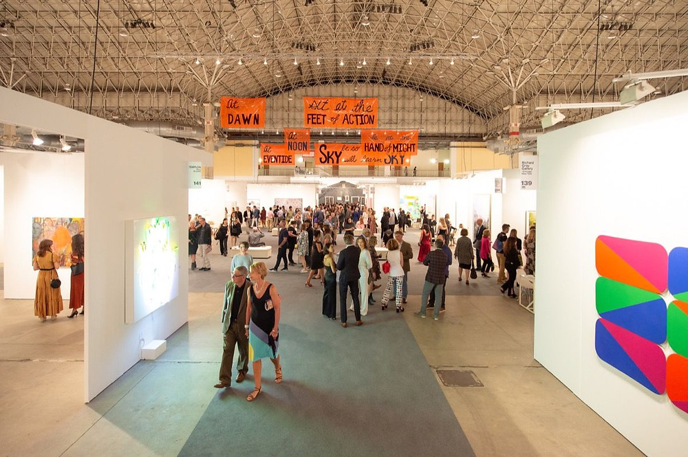 Installation view at Expo Chicago, 2019. Image credits: Artsy