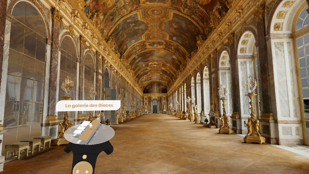 Hall of Mirrors in VersaillesVR: the Palace is Yours. Courtesy : © Château de Versailles, 2019.
