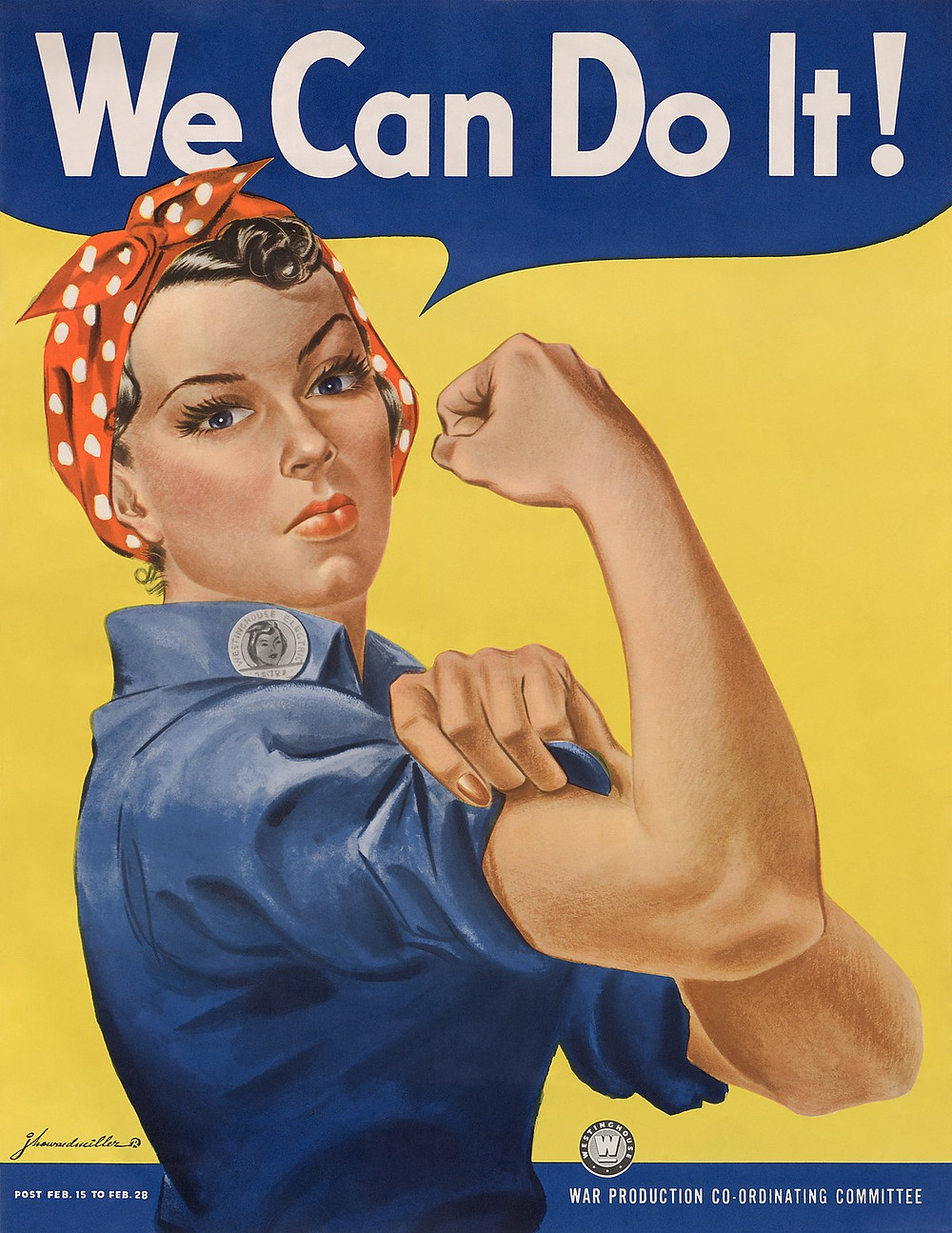 """We Can Do It!"" -- the iconic war time poster by Howard J. Miller"