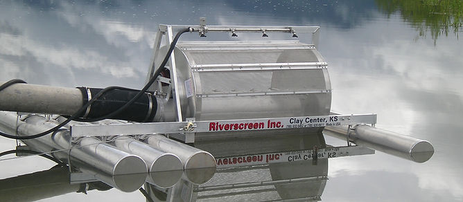 Riverscreen rotating water screen filter