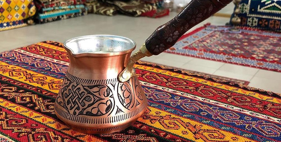Turkish Traditional Design Copper Handmade Engraved With Handle Copper Colour