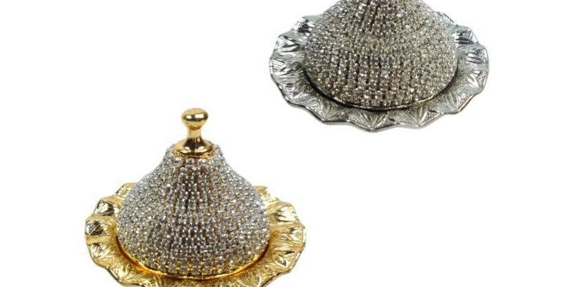 Turkish Delight and Sugar Bowl Handmade Stone Design Candy Dish With Lid