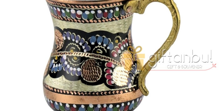 Copper Mug Cup Stoup Tankard 100% Pure Handmade Copper Cup, Turkish Traditional
