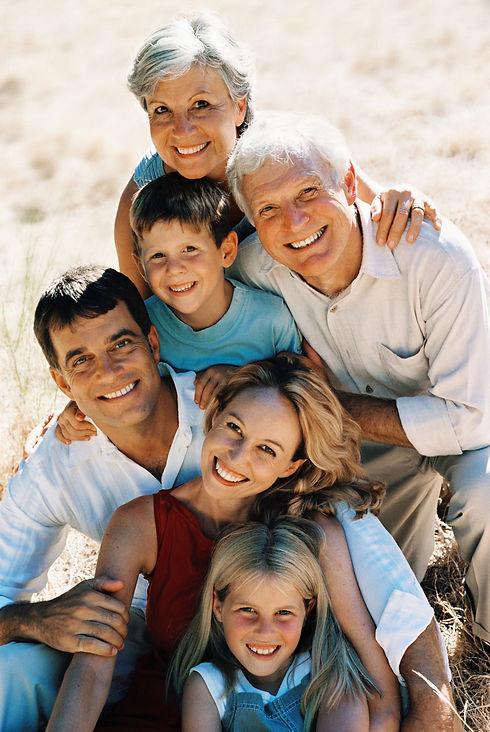 Multi generation family son walk in coun