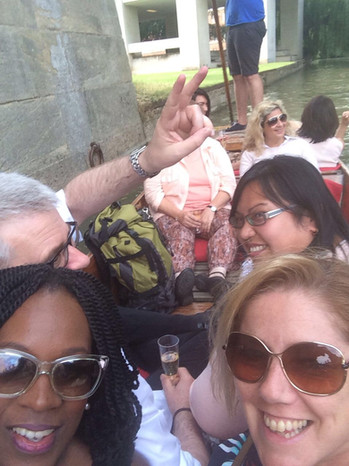 Punting in Cambridge after dinner