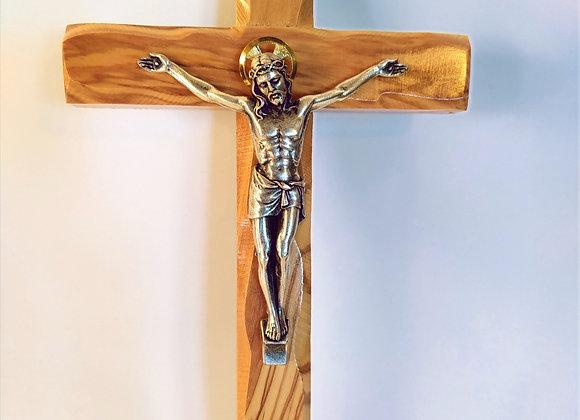 Olive Wood Crucifix 22cm