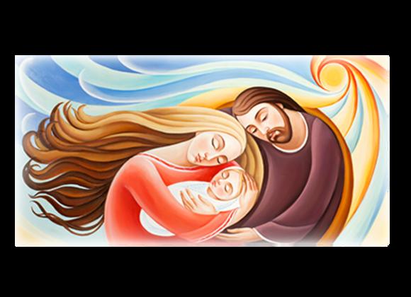 Modern Holy Family Canvas 50x100cm