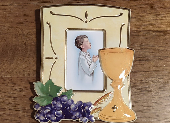Small Photo Frame with chalice and grapes