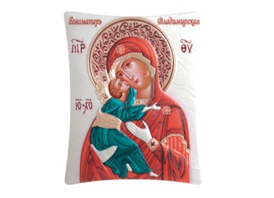 Silver Orthodox Mother and Child Icon