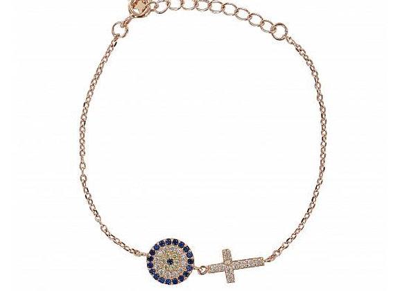 Pink Sterling Silver Bracelet