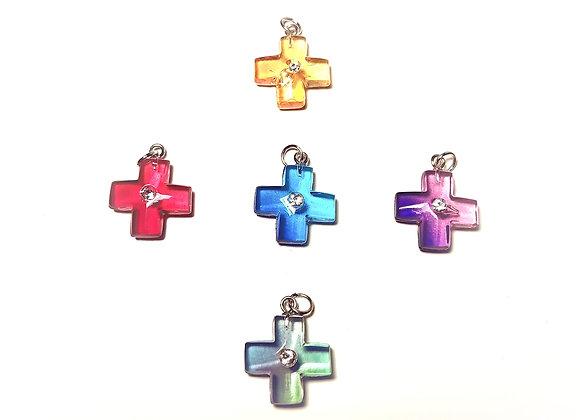 Polymer Coloured Cross Pendants