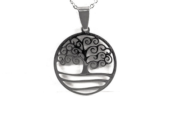 """Stainless Steel """"Tree of Life"""" Necklace"""
