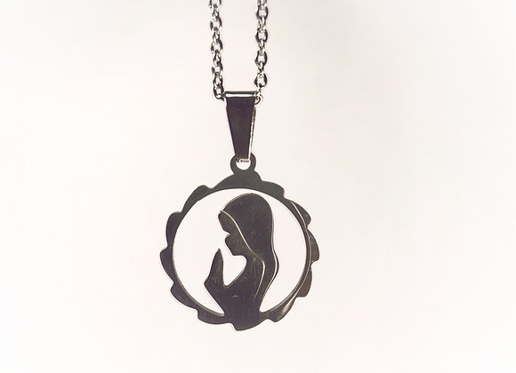 Stainless Steel pendant with Our Lady