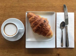 I take my Mondays with a double macchiato and fresh croissant #goodmorning #mondays #motivation #cro