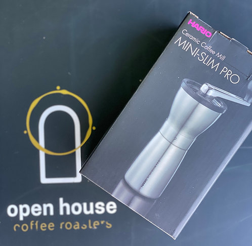 Hario Coffee Mill Slim Pro – Silver