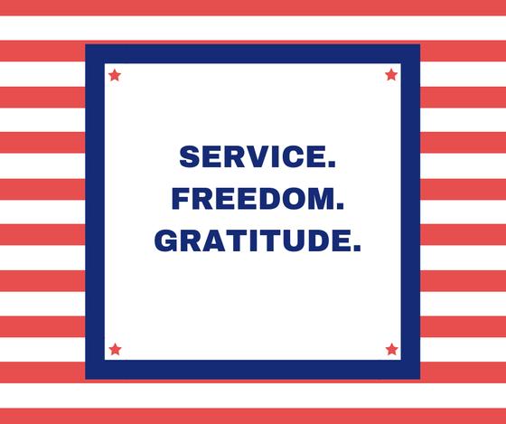 Service Freedom Gratitude