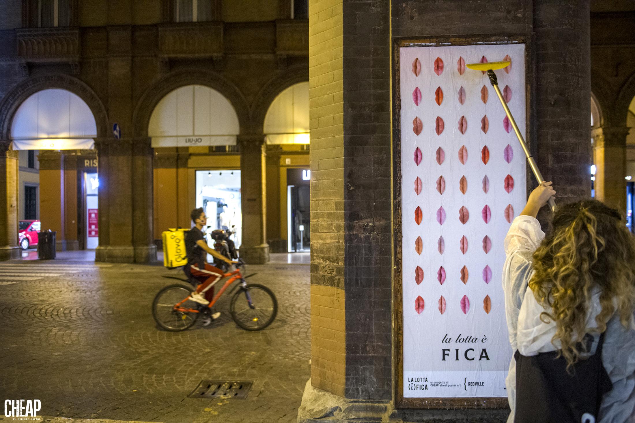 """""""LA LOTTA È FICA"""" _ poster Via Indipendenza BOLOGNALa_lotta_è_FICA""""_un_prog"""