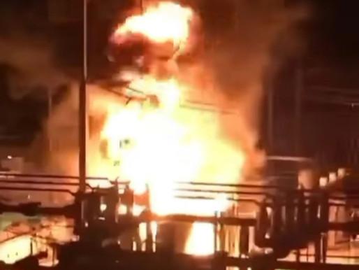 En Vídeo || Incendio en subestación eléctrica del barrio El Silencio.