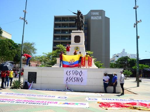 Infiltrados dañan marcha pacífica en Barranquilla