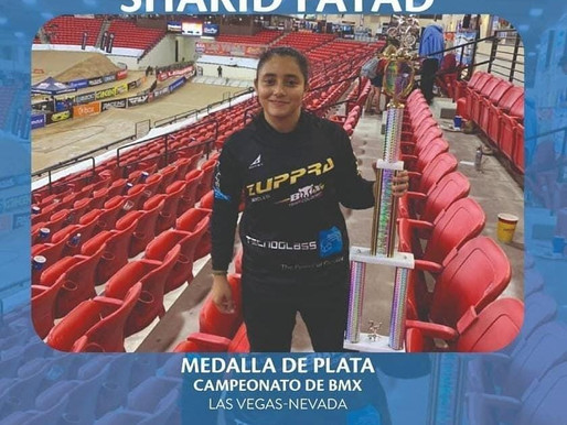 La soledence Sharid Fayad obtiene medalla de plata en BMX de EEUU