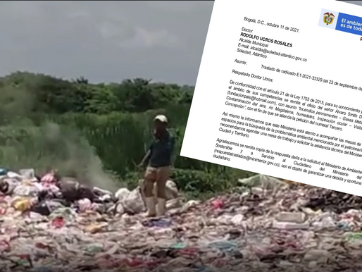 Minambiente obliga al alcalde Rodolfo Ucros a solucionar problema ambiental en el municipio