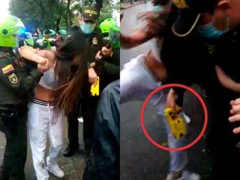 En Vídeo || Policía agrede con pistola taser a una mujer en su vagina.
