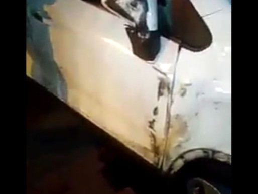 En Vídeo || Camioneta arrolla a motociclista en la entrada del barrio El Tucán de Soledad
