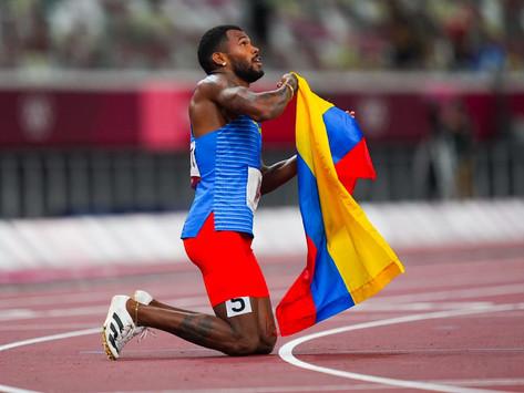 Anthony Zambrano velocista colombiano gano medalla de plata en los juegos Olímpicos To