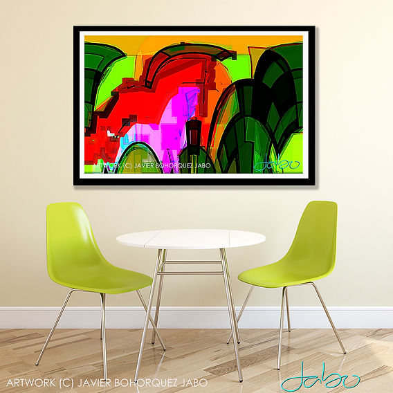 JABO ARTIST DALLAS ABSTRACT ART PAINTING