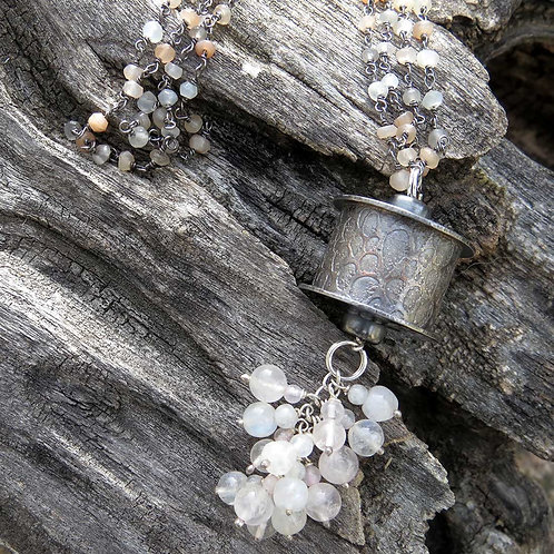 Moonstone Rattle Necklace