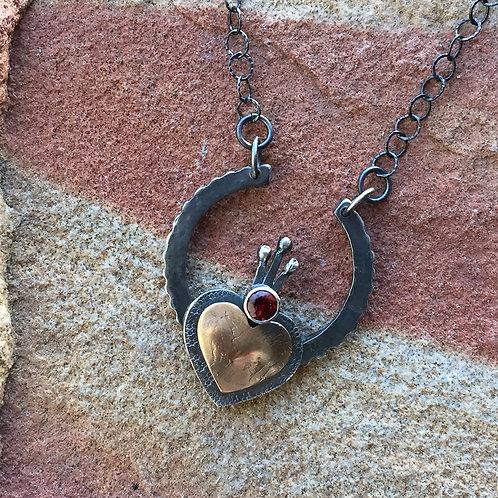 Lucky Horseshoe Claddagh Heart