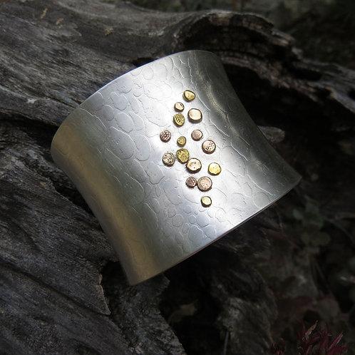 Silver & Gold Leopard Cuff