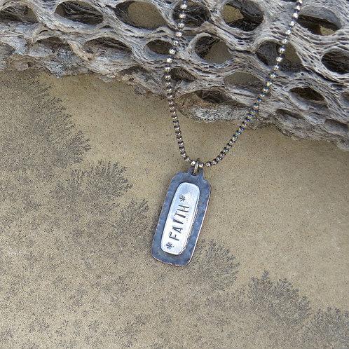 Have Faith 'dog tag' Necklace
