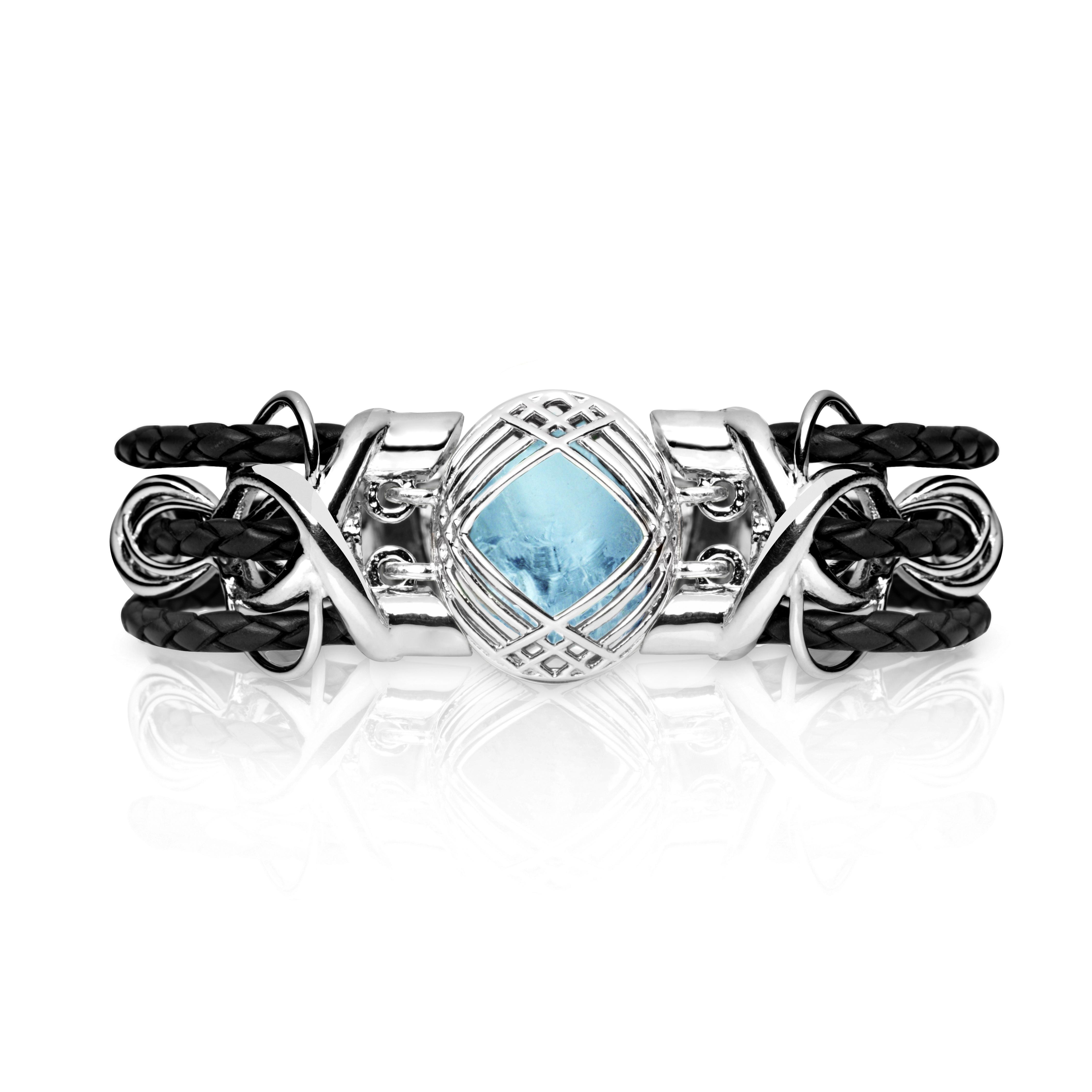 Sokarra Aquamarine Silver Black