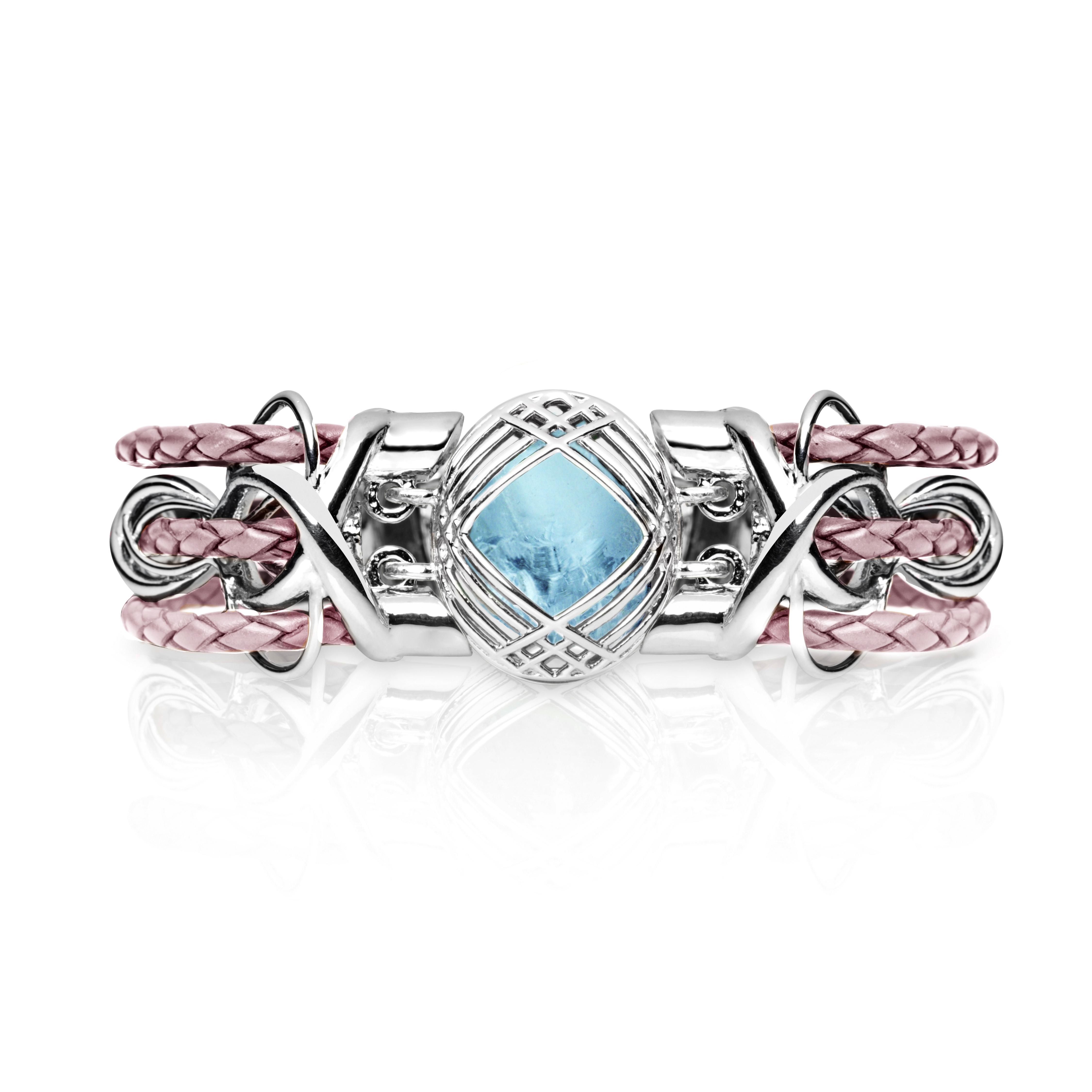 Sokarra Aquamarine Silver Pink