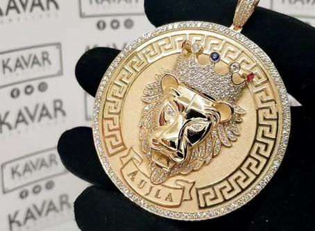 Custom Diamond Lion Pendant