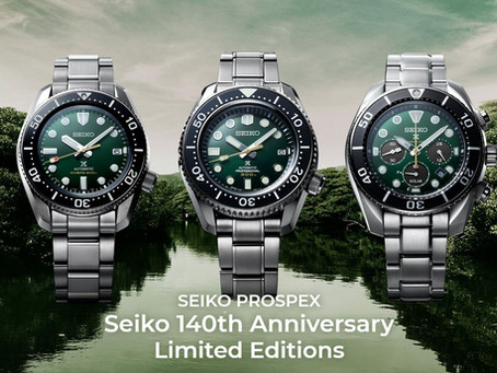 SEIKO RELEASE | 140th Anniversary GREEN Trio Lineup