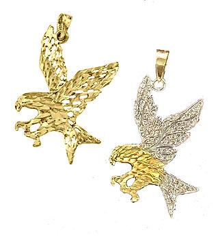Diamond Eagle Gold Pendant