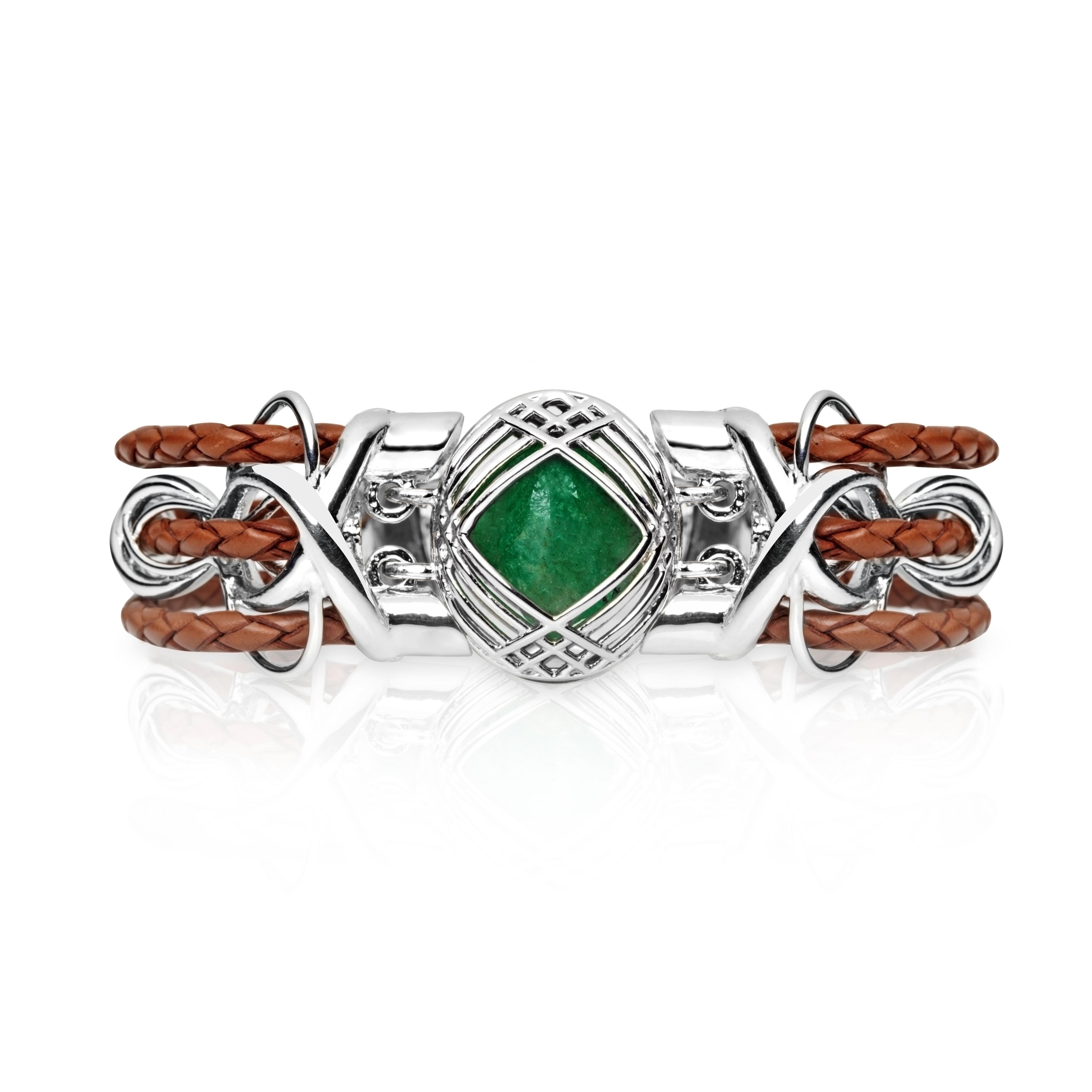 Sokarra Emerald Silver Saddle Brown