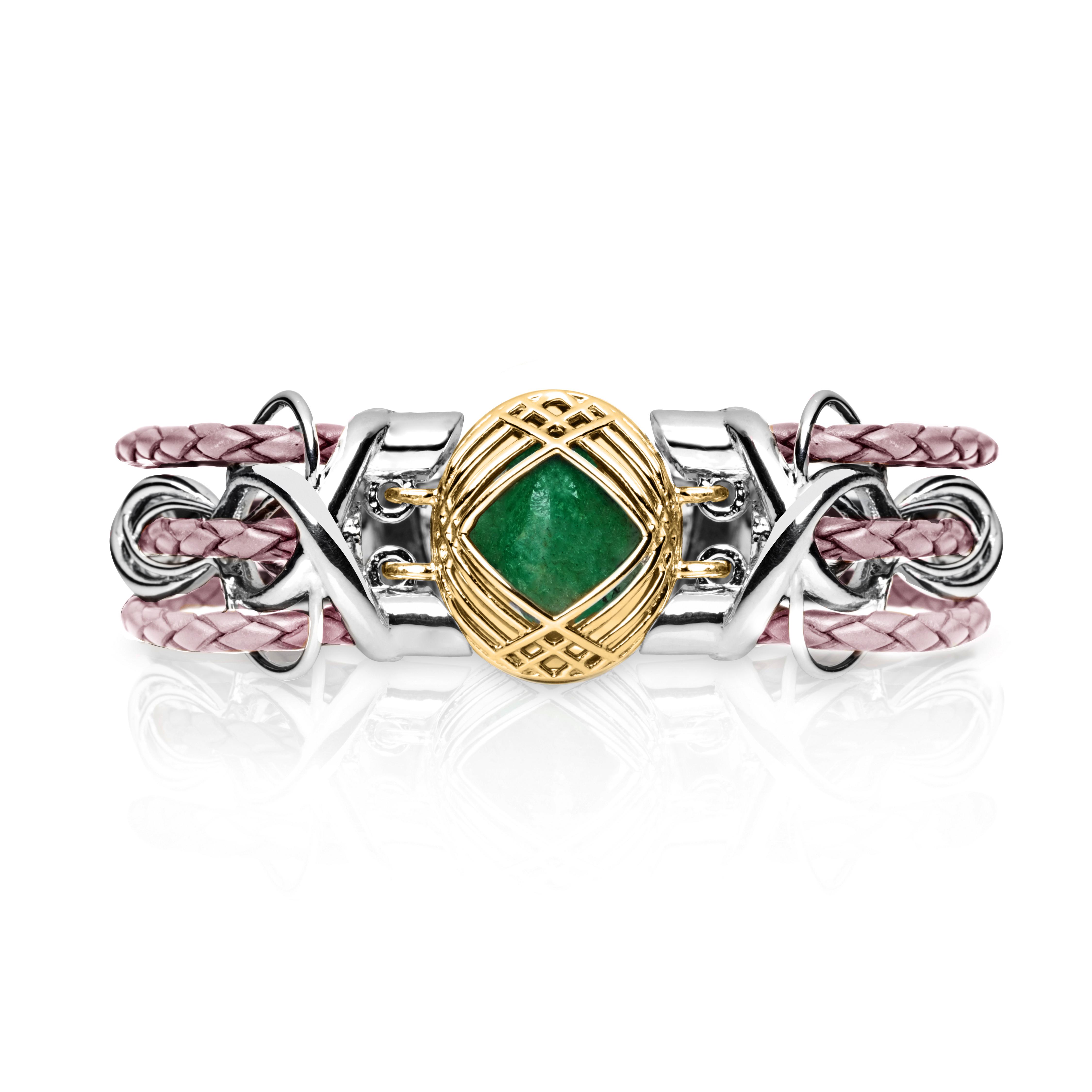 Sokarra Emerald Gold Pink