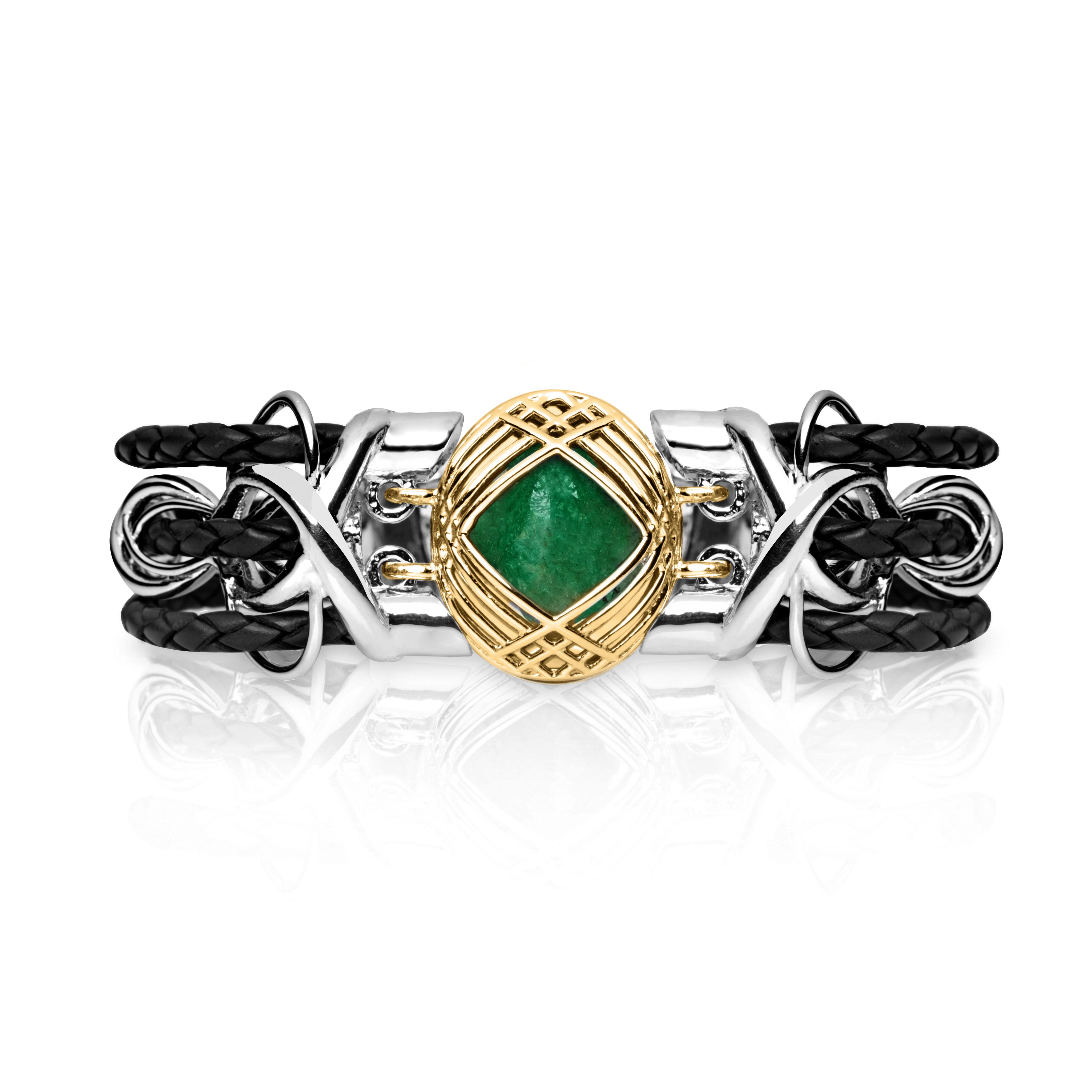 Sokarra Emerald Gold Black
