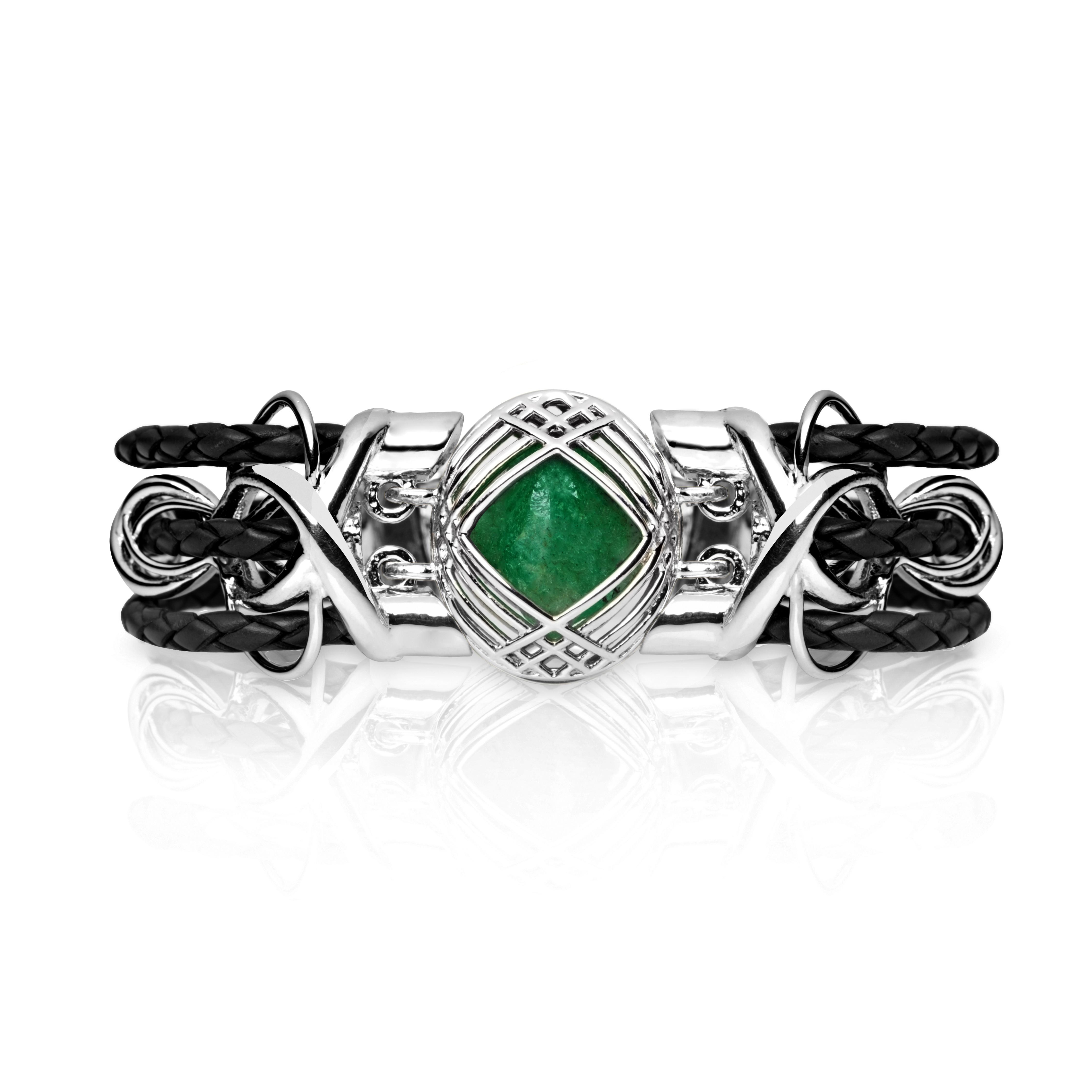Sokarra Emerald Silver Black